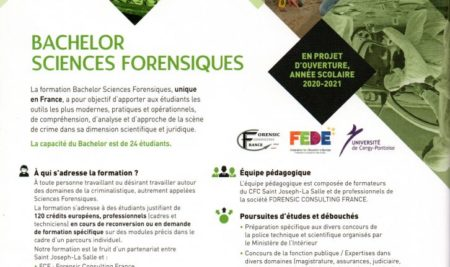 BACHELOR SCIENCES FORENSIQUES